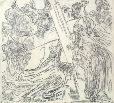 frank-brangwyn-Jesus Falls for the Third Time