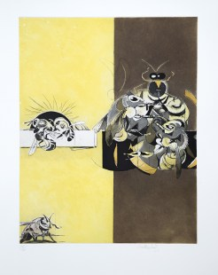 graham-sutherland-bees_fight-between-workers-and-drones